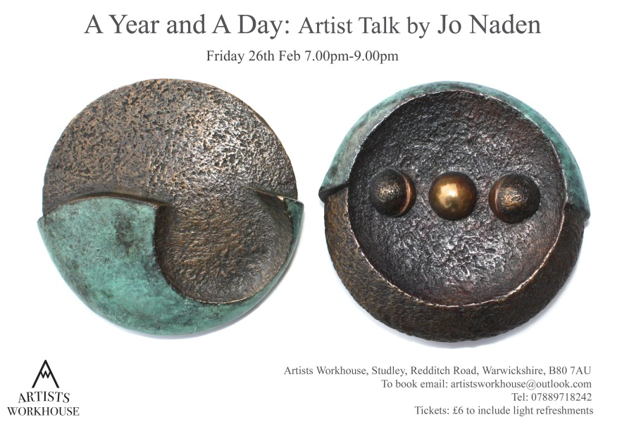 Artists Talk by Jo Naden 'A Year and A Day'