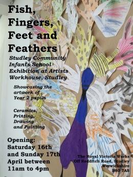 Studley Infants School exhibition poster