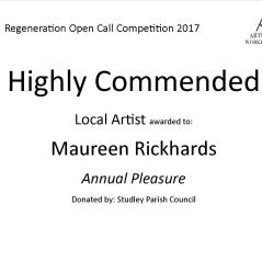 Highly Commended - Maureen Rickhards Local Artist
