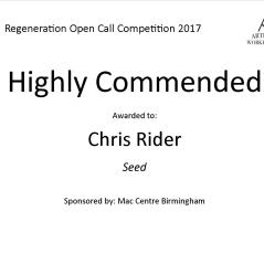 Highly Commended Regeneration - Chris Rider