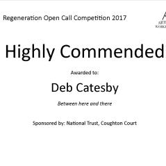 Highly Commended Regeneration Deb Catesby
