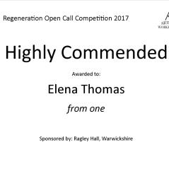 Highly Commended Regeneration - Elena Thomas