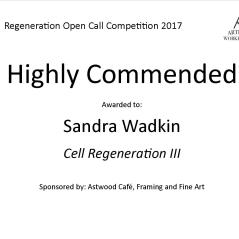 Highly Commended Regeneration - Sandra Wadkin