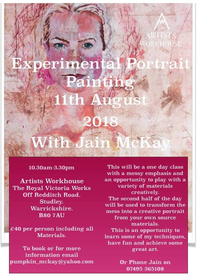 Experimental Portrait Painting Workshop
