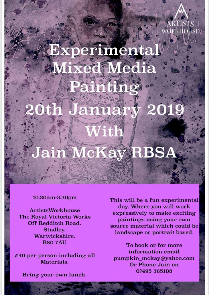 experimental mixed media painting 20th Jan
