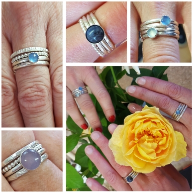 stacking rings collage