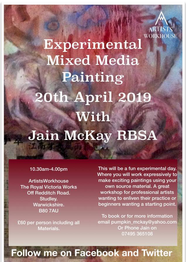 Mixed Media Experimental Painting Workshop