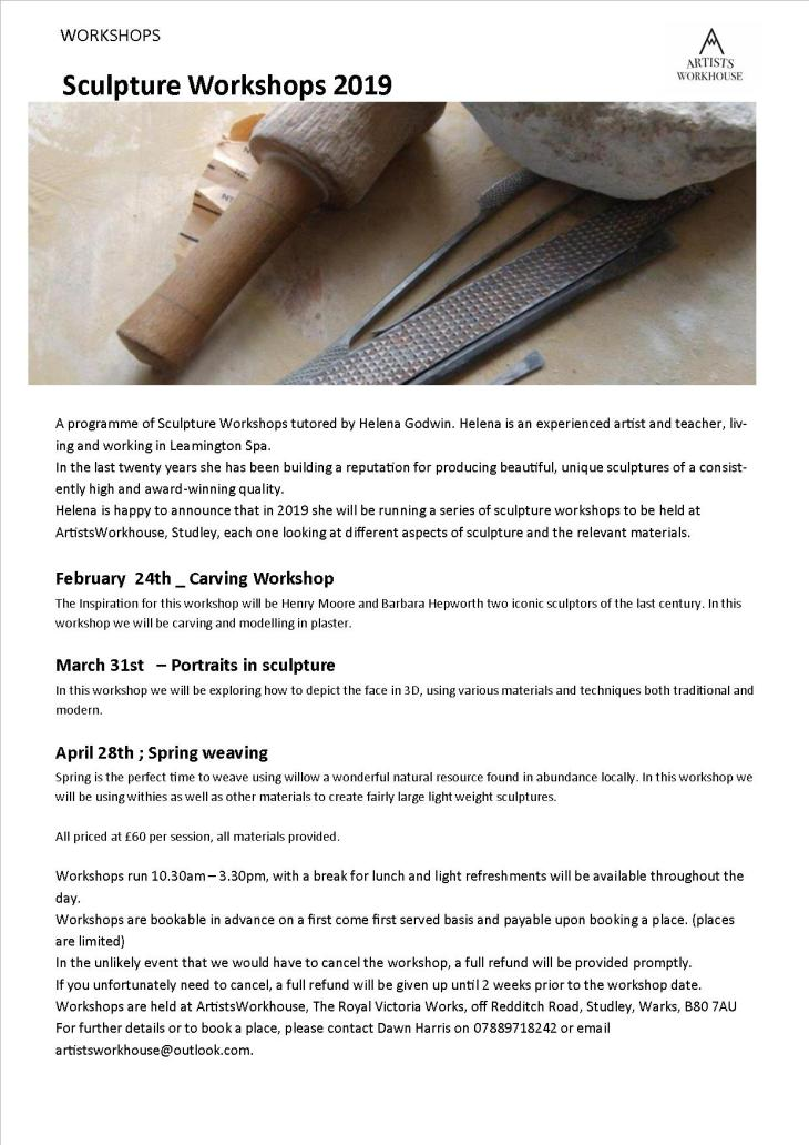 Sculpture Workshops - Helena Godwin 2019