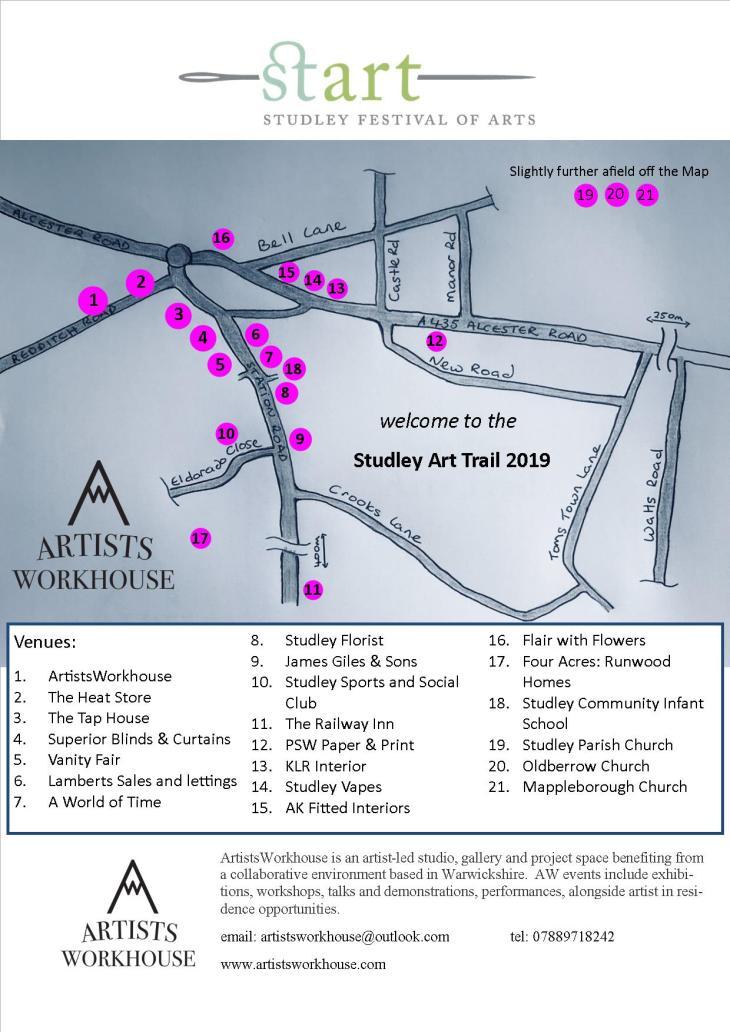 Studley Arts Trail flyer